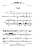 Autumn Trio - For Clarinet, Violoncello, And Piano SCORE AND PART(S) Sheet Music