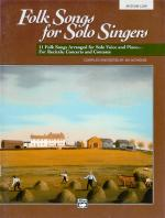 Folk Songs For Solo Singers, Vol. 1 - Book & CD Sheet Music