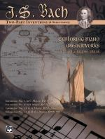 Exploring Piano Masterworks: 2-Part Inventions (4 Selections) - Book Sheet Music