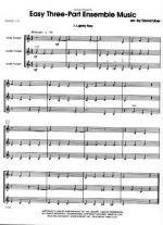 Easy Three-Part Ensemble Music Sheet Music Sheet Music