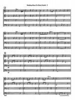 Wedding Album For Brass Quartet Sheet Music Sheet Music