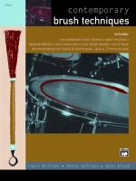 Contemporary Brush Techniques - Book & CD Sheet Music