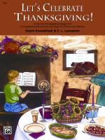 Let's Celebrate Thanksgiving! (2 Favorite Thanksgiving Songs with Corresponding Musical Activity Pag Sheet Music
