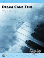 Dream Come True - Sheet Music Sheet Music