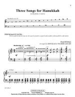 Three Songs For Hanukkah Sheet Music