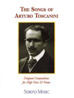 The Songs Of Arturo Toscanini High Voice Sheet Music