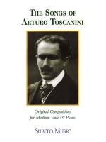 The Songs Of Arturo Toscanini Medium Voice Sheet Music