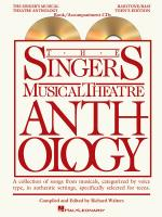The Singer's Musical Theatre Anthology - Teen's Edition Baritone/Bass Book/2-CDs Pack Sheet Music