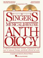 The Singer's Musical Theatre Anthology - Teen's Edition Baritone/Bass Accompaniment CDs Only Sheet Music