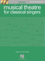 Musical Theatre For Classical Singers Tenor Book/2-CDs Pack Sheet Music