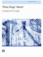 Three Kings' March - Conductor Score & Parts Sheet Music