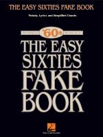 The Easy Sixties Fake Book Sheet Music