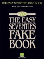 The Easy Seventies Fake Book Sheet Music