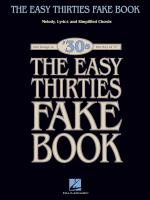 The Easy 1930s Fake Book 100 Songs In The Key Of C Sheet Music