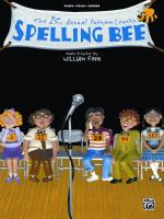 The 25th Annual Putnam County Spelling Bee - Book Sheet Music