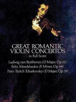 Great Romantic Violin Concertos - Book Sheet Music