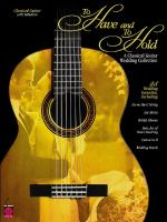To Have And To Hold Classical Guitar Sheet Music