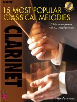 15 Most Popular Classical Melodies Clarinet Sheet Music
