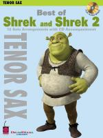 Best Of Shrek And Shrek 2 Tenor Saxophone Sheet Music