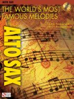 The World's Most Famous Melodies Alto Saxophone Play-Along Book/CD Pack Sheet Music