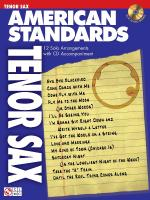 American Standards Tenor Saxophone Play-Along Pack Sheet Music