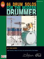 66 Drum Solos For The Modern Drummer Rock Sheet Music