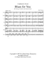 Blues For You For String Orchestra, Piano And Drums Sheet Music