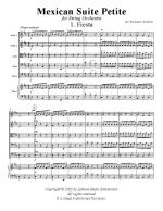 Mexican Suite Petite For String Orchestra Sheet Music
