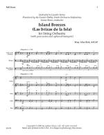 Island Breezes For String Orchestra Las Brizas de la Isla Sheet Music