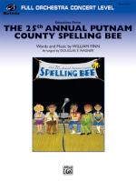 The 25th Annual Putnam County Spelling Bee, Sheet Music