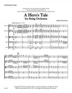 A Hero's Tale For String Orchestra - Score Sheet Music