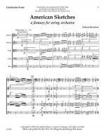 American Sketches: A Fantasy For String Orchestra - Score Sheet Music