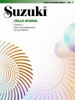 Suzuki Cello School Piano Acc., Volume 4 - Book Sheet Music