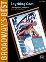 Anything Goes (Broadway's Best) (8 Selections from the Musical) - Book Sheet Music