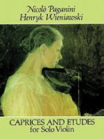 Caprices and Etudes for Solo Violin - Book Sheet Music