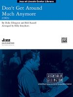 Don't Get Around Much Anymore - Conductor Score Sheet Music