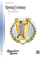 Opening Ceremony - Sheet Music Sheet Music