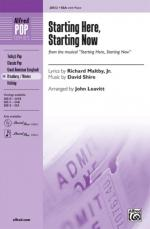 Starting Here, Starting Now (From The Musical Starting Here, Starting Now) Sheet Music - Choral Octa Sheet Music