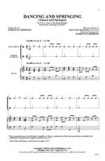 Dancing and Springing (Tanzen und Springen) Sheet Music - Choral Octavo Sheet Music
