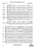 Finale from Brahms's Symphony No. 1 - Conductor Score Sheet Music