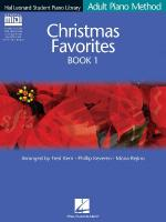 Christmas Favorites Book 1 - Book/Gm Disk Pack Hal Leonard Student Piano Library Adult Piano Method Sheet Music