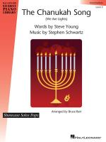The Chanukah Song (We Are Lights) Hal Leonard Student Piano Library Showcase Solos Pops Level 5 (Int Sheet Music