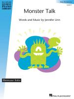 Monster Talk Hal Leonard Student Piano Library Showcase Solos Early Elementary - Level 1 Sheet Music Sheet Music