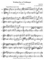 Wedding Day At Troldhaugen Opus 65 Number 6 - For 2 Flutes Or Flute & Clarinet In Bb Sheet Music