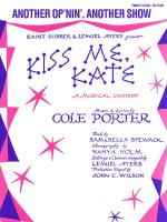 Another Op'nin', Another Show (From Kiss Me Kate) Sheet Music Sheet Music