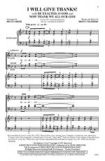 I Will Give Thanks! Sheet Music (Be Exalted, O God / Now Thank We All Our God) - Choral Octavo Sheet Music