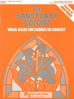The Sanctuary Soloist - Volume III High Voice Sheet Music
