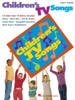 Children's Tv Songs Sheet Music
