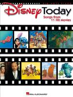 Disney Today Songs From 11 Hit Movies Sheet Music