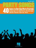 Party Songs 40 Tunes To Get Any Party Started Sheet Music